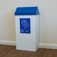 Swing-Top-Recycling-Bin-Blue-Paper